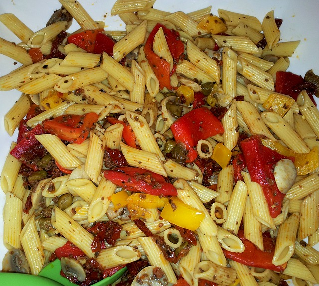 Tri Colour Pepper Pasta - Little Food Diary