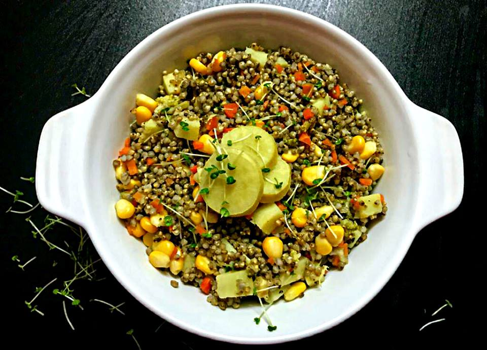 Winter Millet Salad with Chia Microgreens | Kid Friendly Recipes